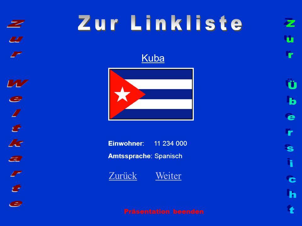 Zur Linkliste Zur Weltkarte Zur Übersicht Kuba Zurück Weiter