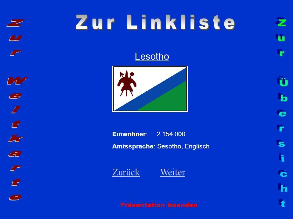Zur Linkliste Zur Weltkarte Zur Übersicht Lesotho Zurück Weiter