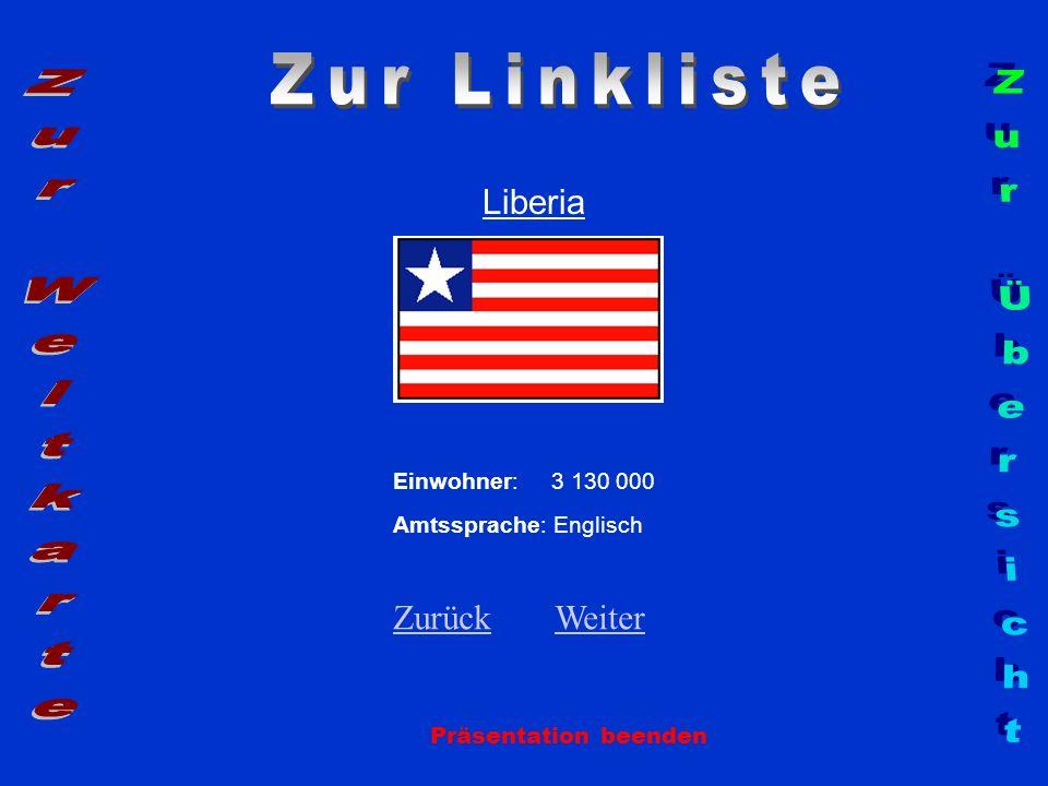 Zur Linkliste Zur Weltkarte Zur Übersicht Liberia Zurück Weiter