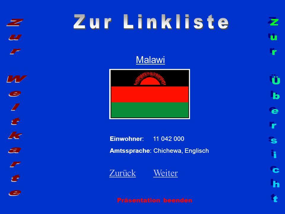 Zur Linkliste Zur Weltkarte Zur Übersicht Malawi Zurück Weiter