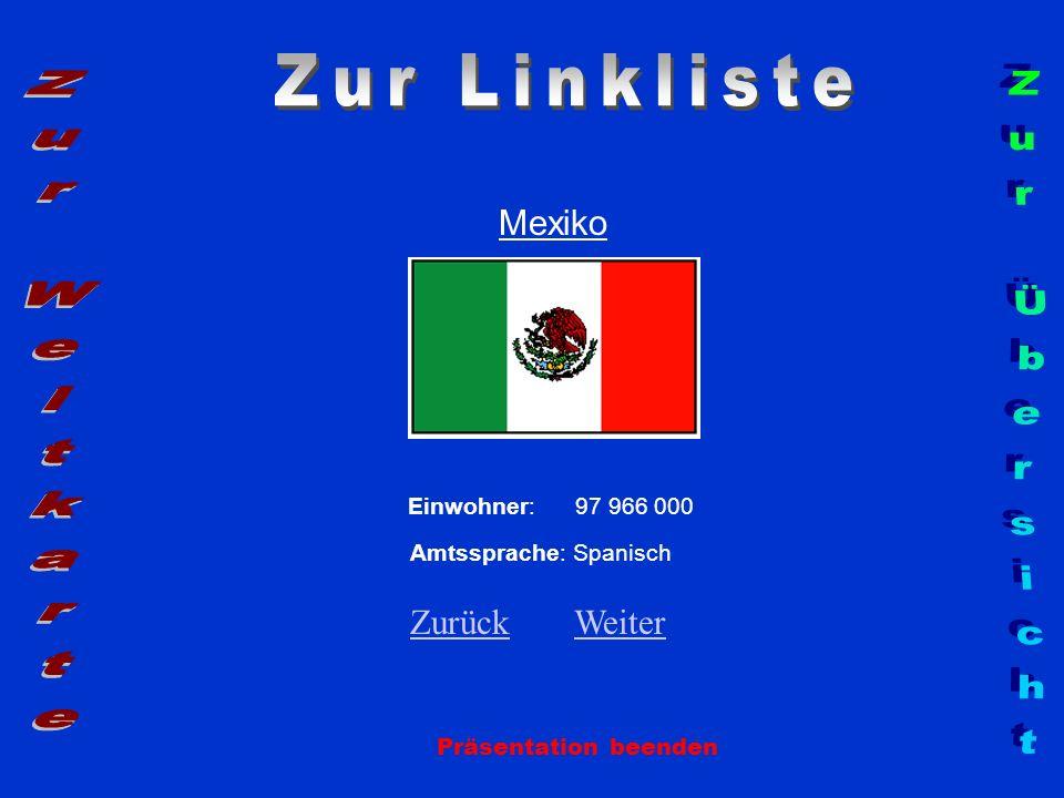 Zur Linkliste Zur Weltkarte Zur Übersicht Mexiko Zurück Weiter