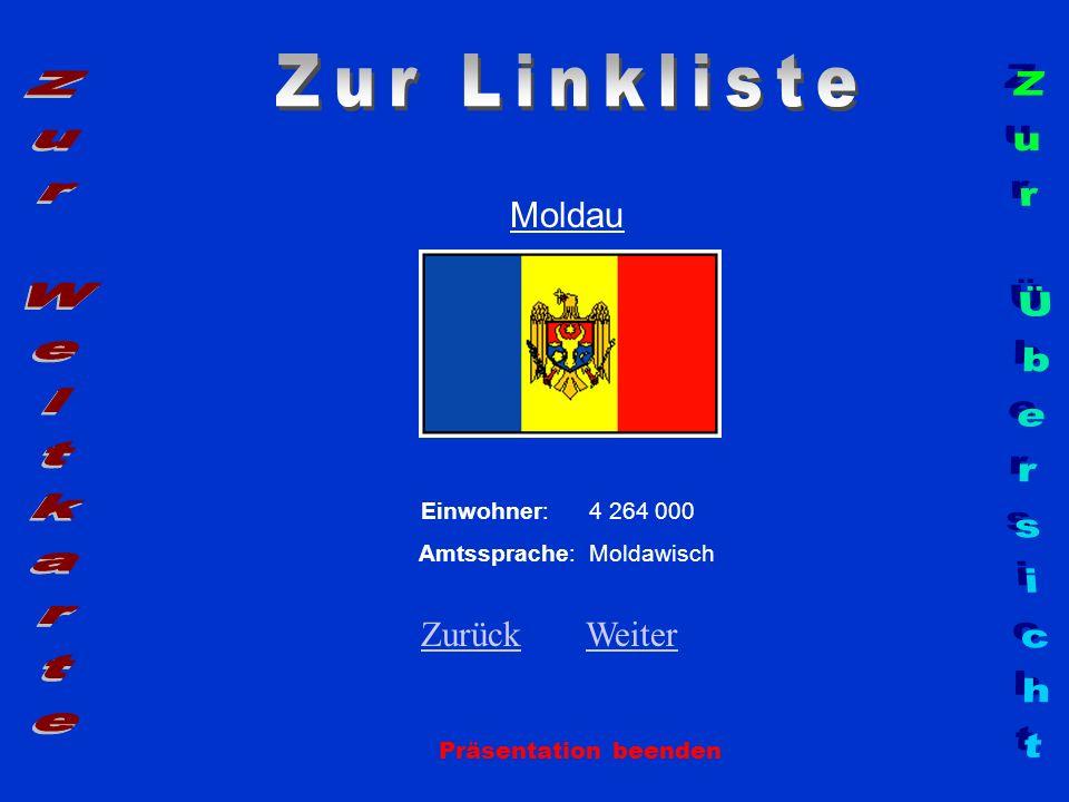 Zur Linkliste Zur Weltkarte Zur Übersicht Moldau Zurück Weiter