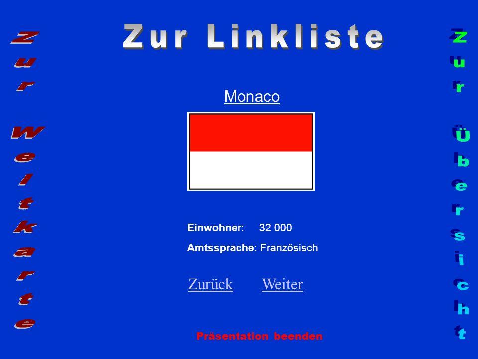 Zur Linkliste Zur Weltkarte Zur Übersicht Monaco Zurück Weiter