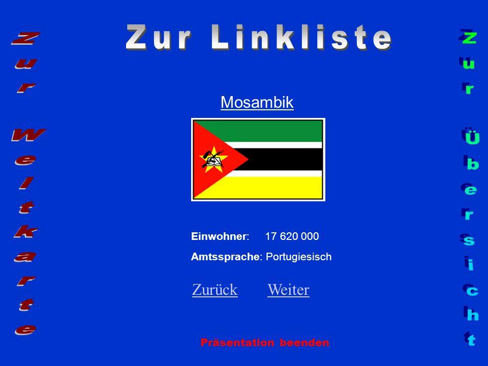 Zur Linkliste Zur Weltkarte Zur Übersicht Mosambik Zurück Weiter