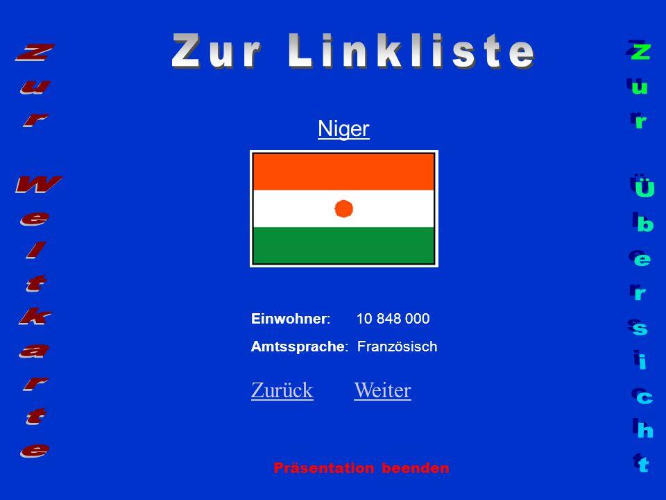 Zur Linkliste Zur Weltkarte Zur Übersicht Niger Zurück Weiter