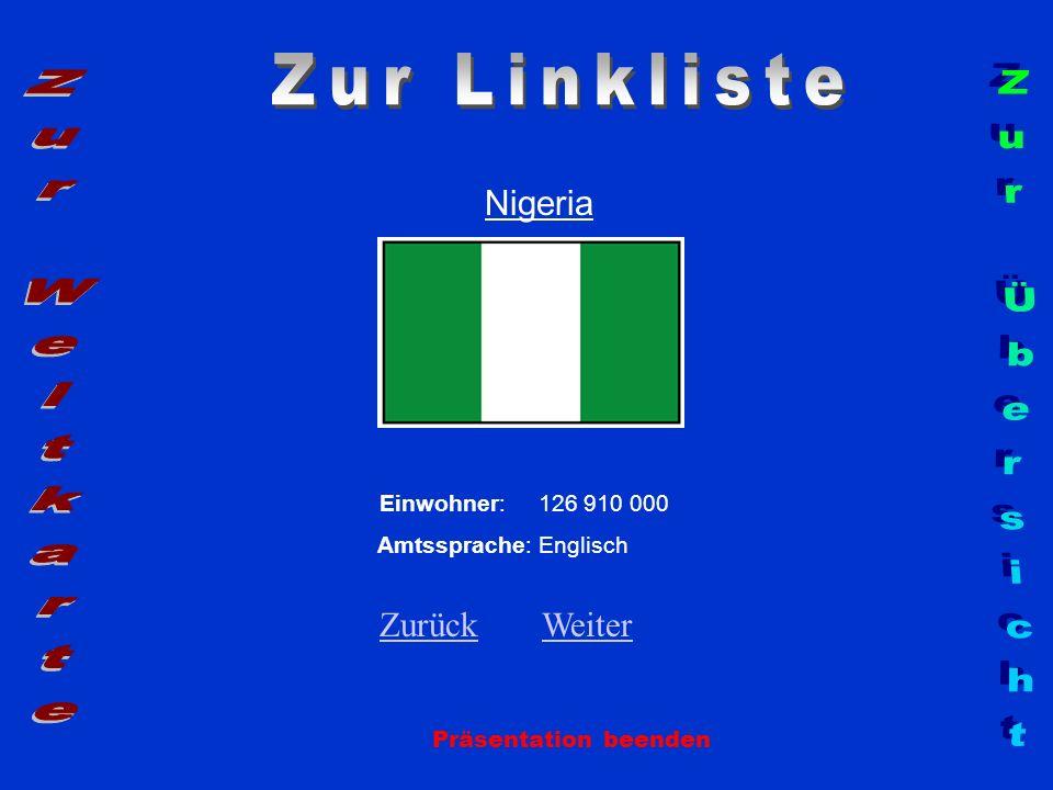Zur Linkliste Zur Weltkarte Zur Übersicht Nigeria Zurück Weiter