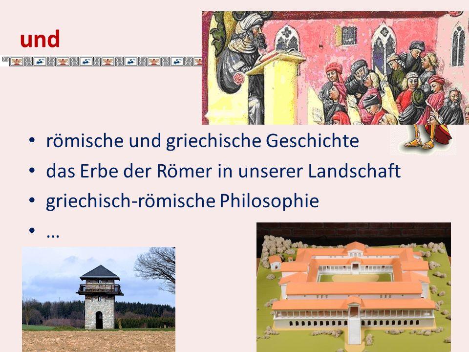 und römische und griechische Geschichte