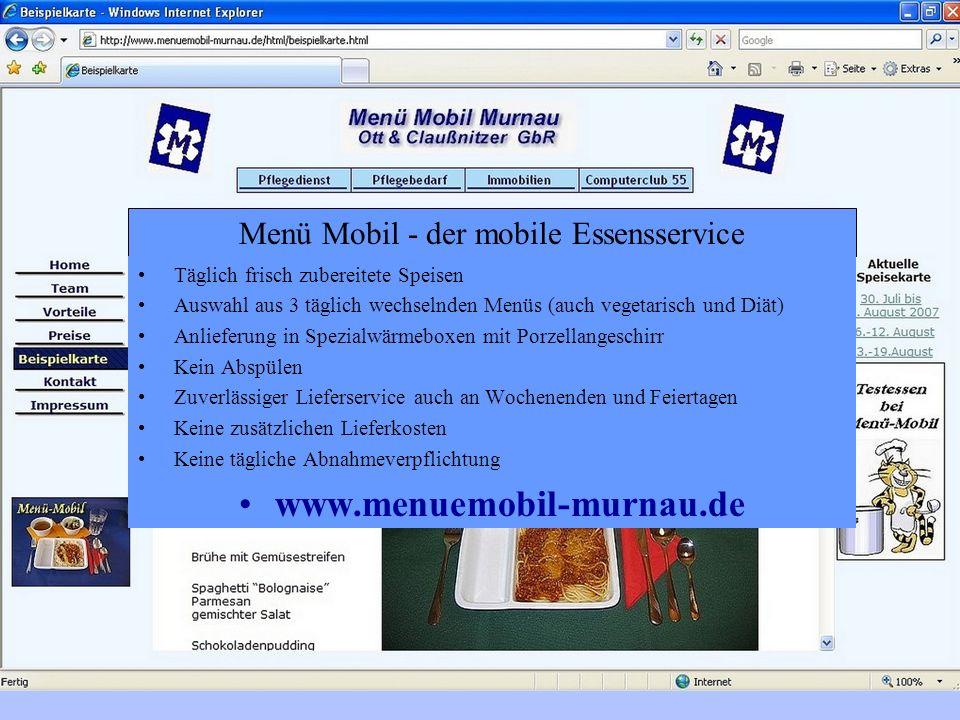 Menü Mobil - der mobile Essensservice