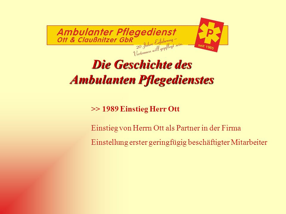 Ambulanten Pflegedienstes