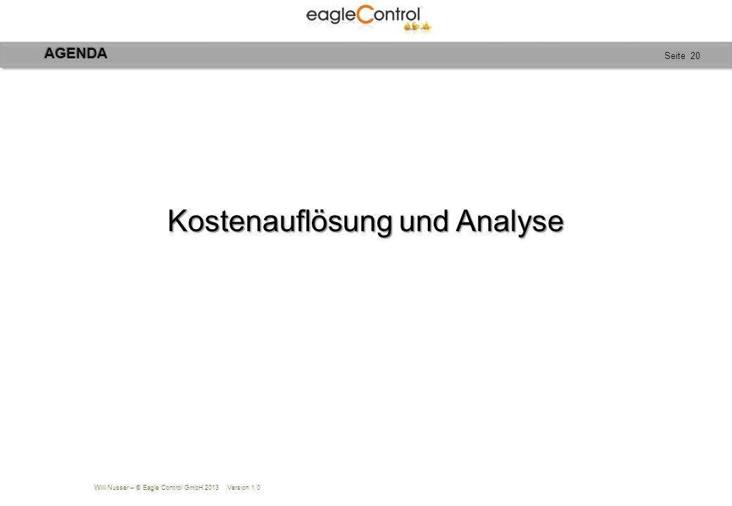 Kostenauflösung und Analyse