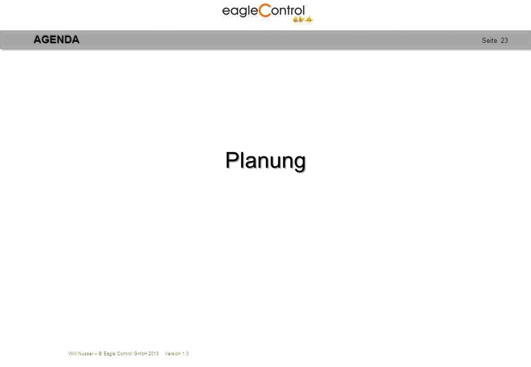AGENDA Planung