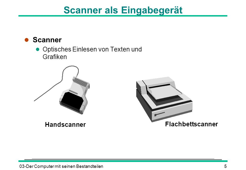 Scanner als Eingabegerät