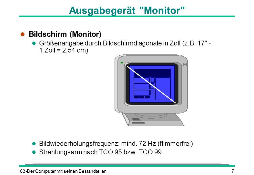 Ausgabegerät Monitor Bildschirm (Monitor)
