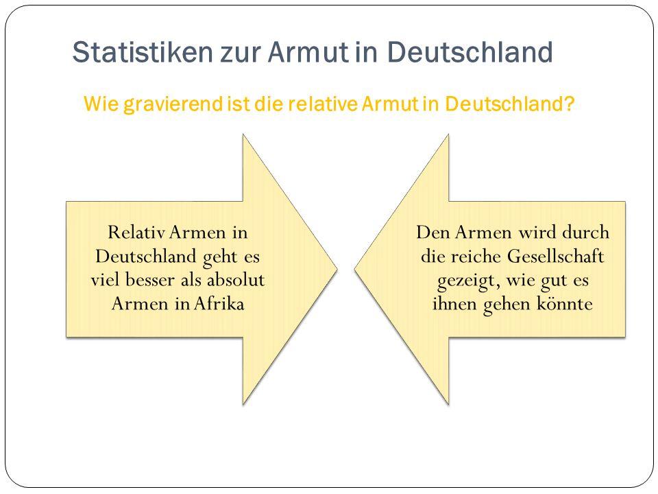 Statistiken zur Armut in Deutschland