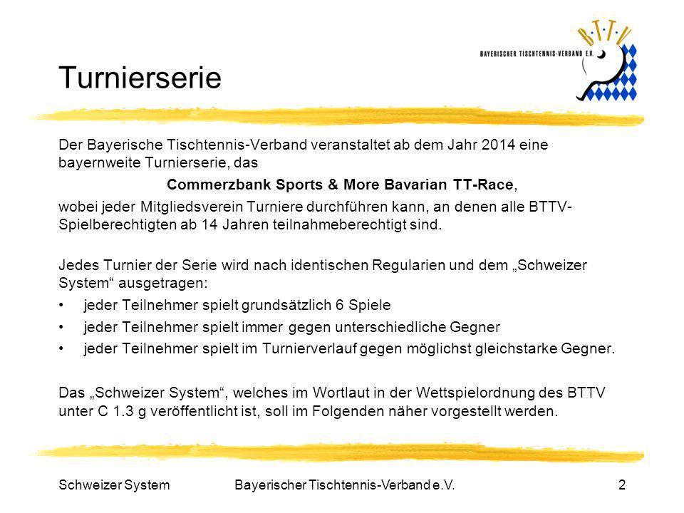 Turnierserie Der Bayerische Tischtennis-Verband veranstaltet ab dem Jahr 2014 eine bayernweite Turnierserie, das.