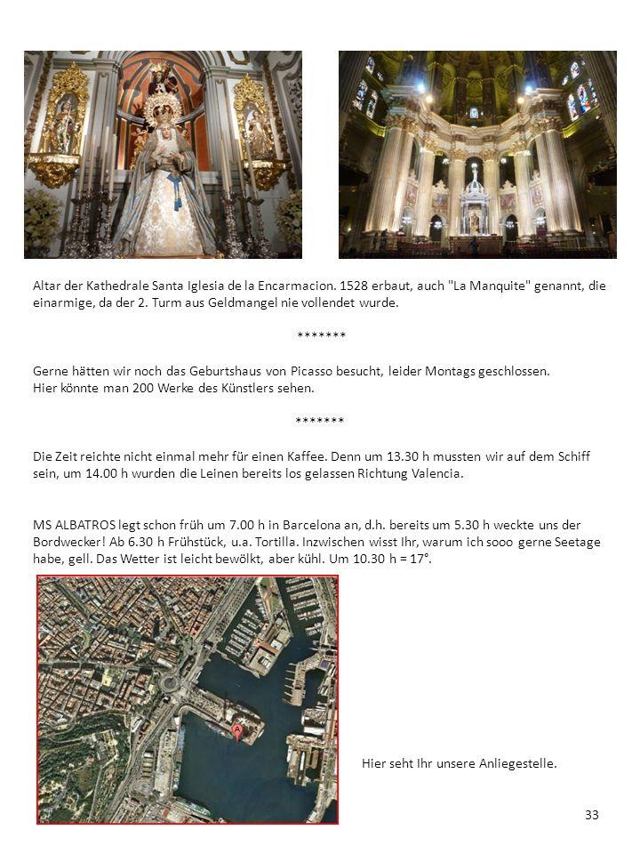 Altar der Kathedrale Santa Iglesia de la Encarmacion