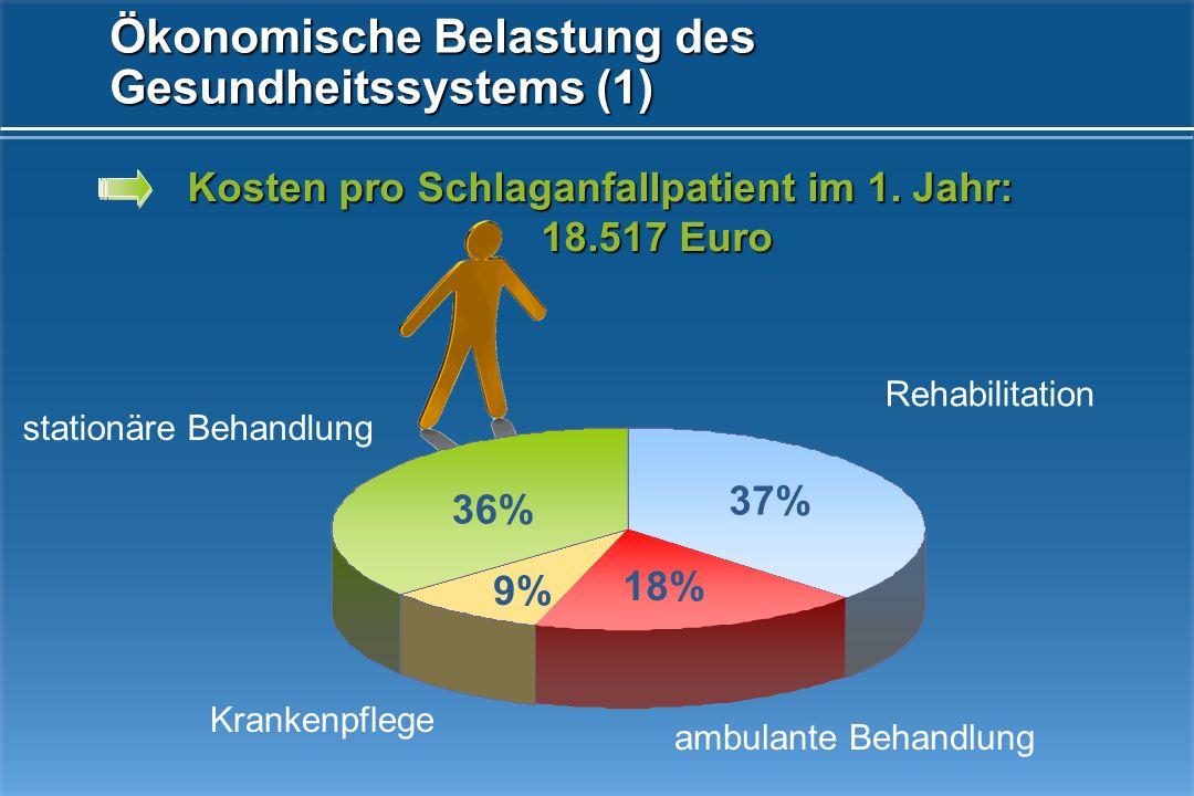 Ökonomische Belastung des Gesundheitssystems (1)