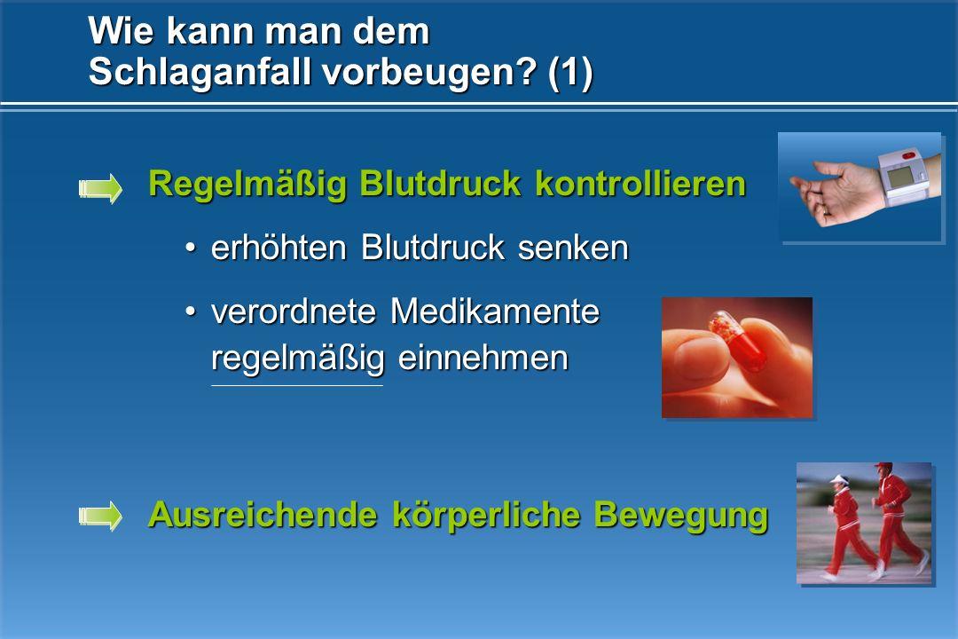 Wie kann man dem Schlaganfall vorbeugen (1)