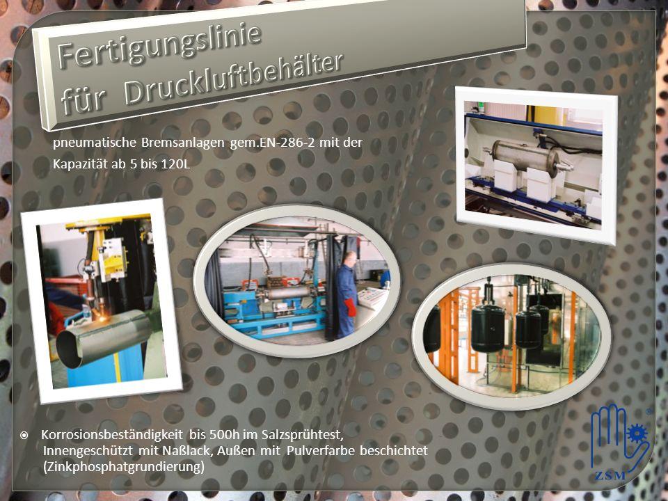 Fertigungslinie für Druckluftbehälter