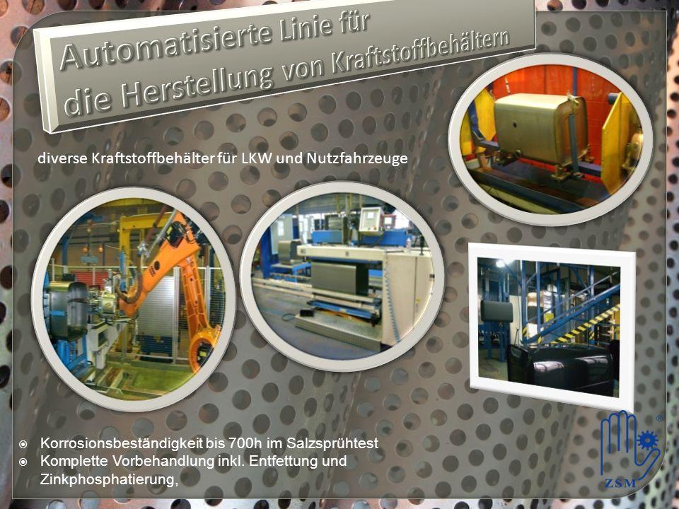 Automatisierte Linie für die Herstellung von Kraftstoffbehältern