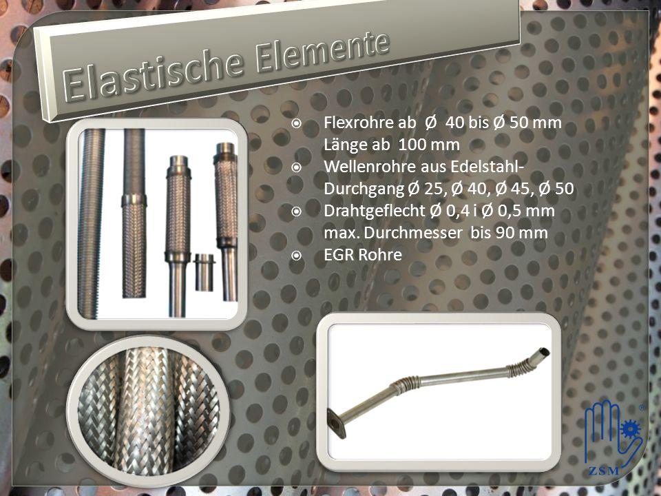 Elastische Elemente Flexrohre ab Ø 40 bis Ø 50 mm Länge ab 100 mm