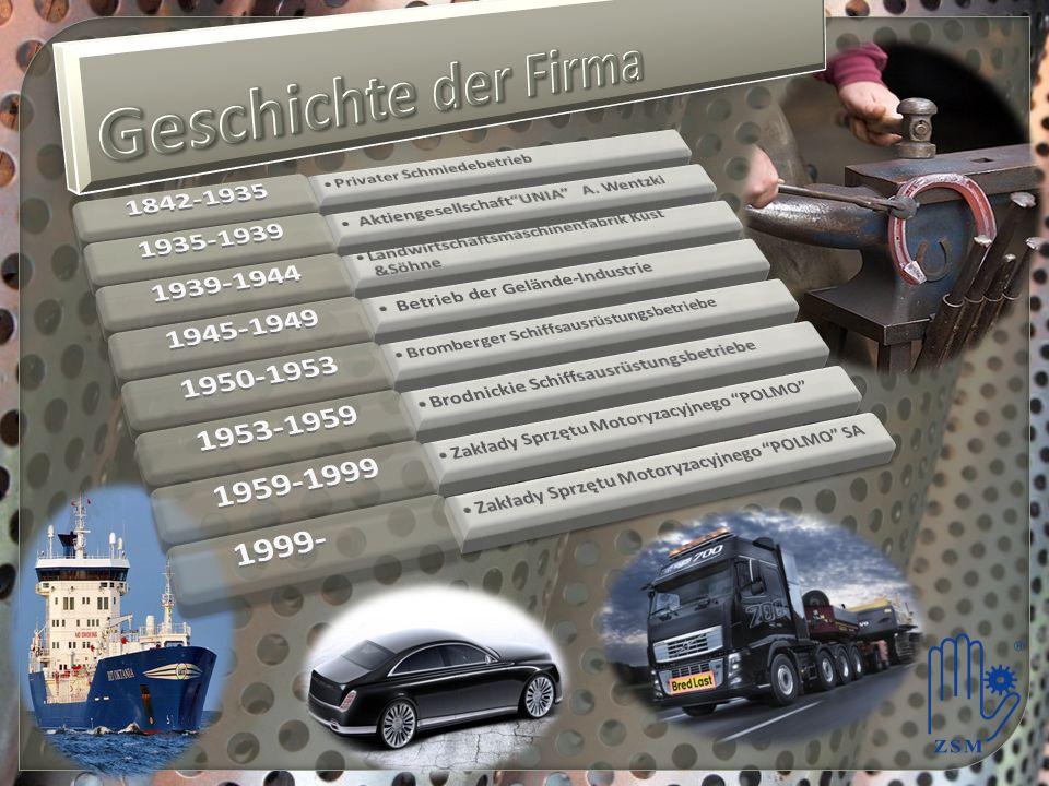 Geschichte der Firma 1842-1935 1935-1939 1939-1944 1945-1949 1950-1953