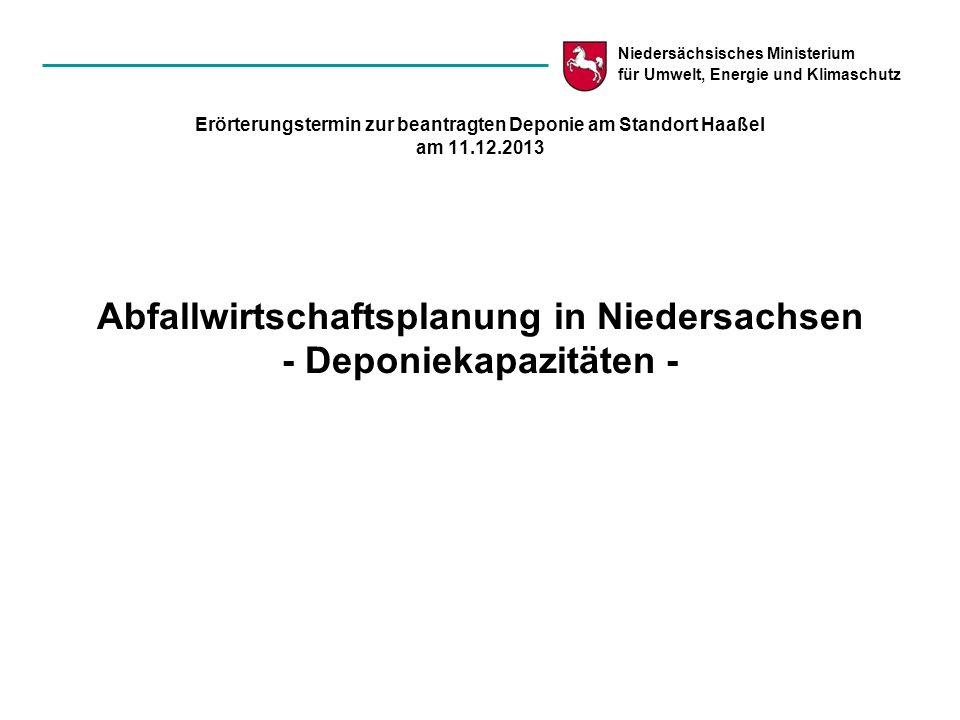 Erörterungstermin zur beantragten Deponie am Standort Haaßel am 11. 12