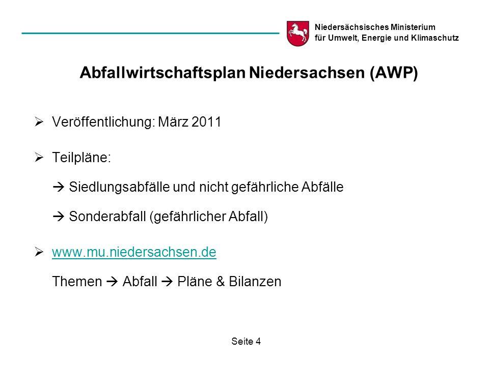 Abfallwirtschaftsplan Niedersachsen (AWP)