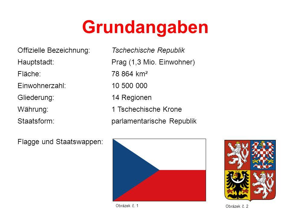 Grundangaben Offizielle Bezeichnung: Tschechische Republik Hauptstadt: