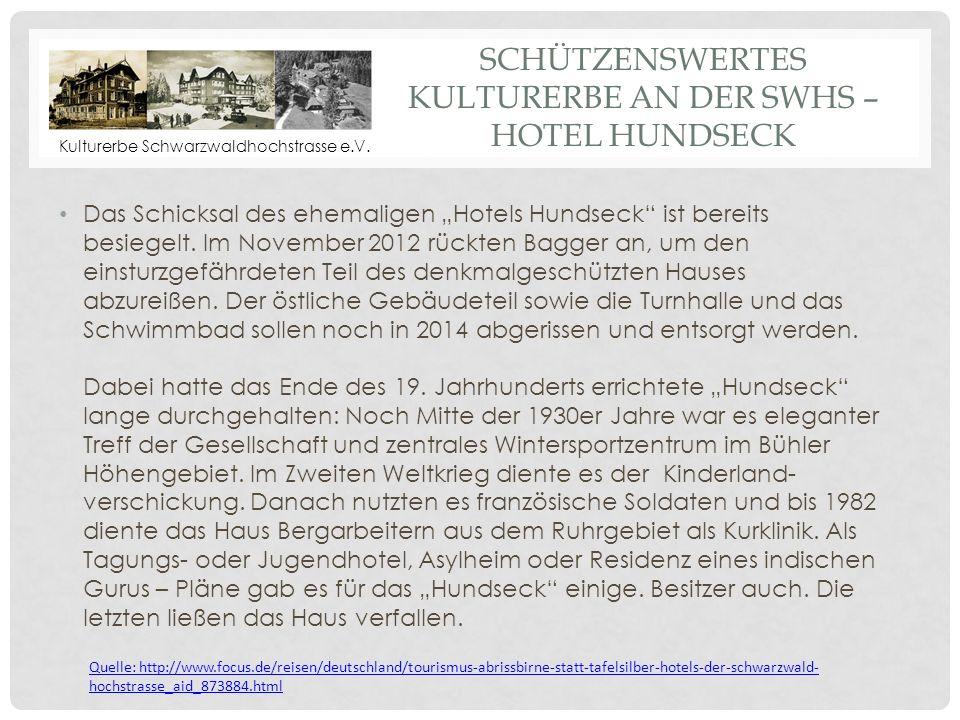 Schützenswertes Kulturerbe an der SWHS – Hotel HundsEck