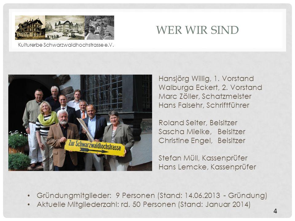 Wer wir sind Hansjörg Willig, 1. Vorstand Walburga Eckert, 2. Vorstand