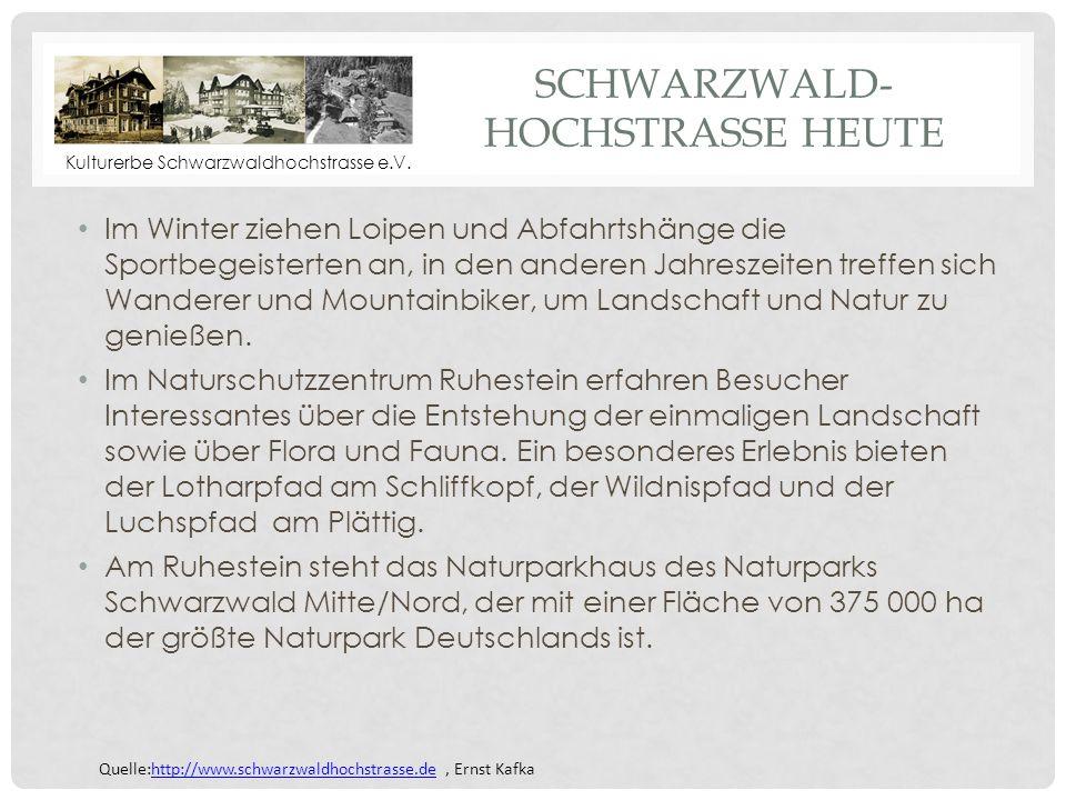 Schwarzwald-hochstrasse heute