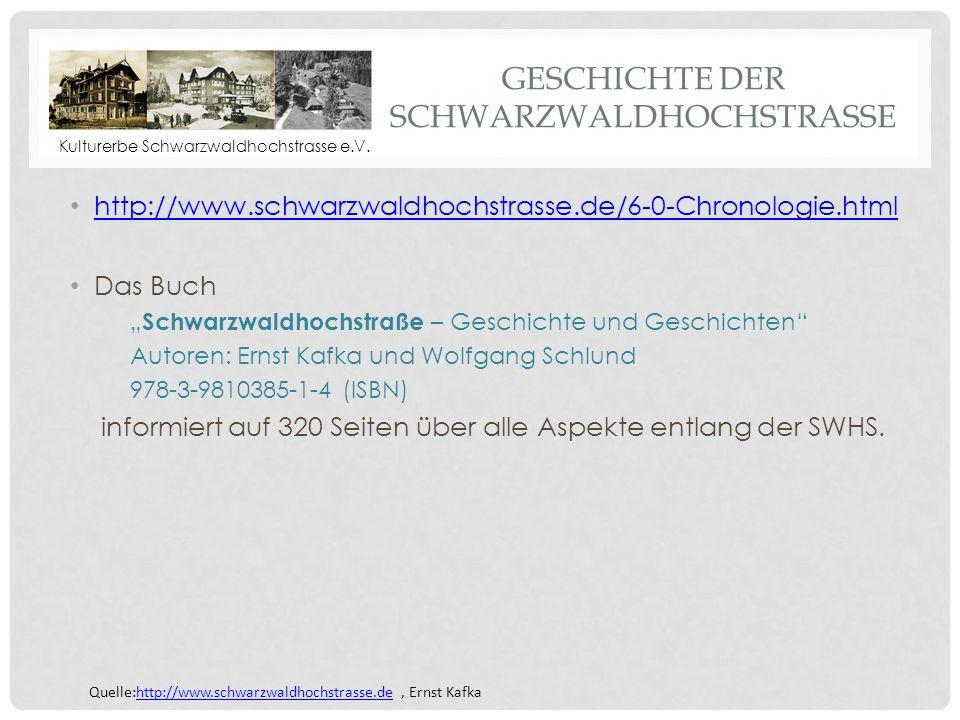 Geschichte Der Schwarzwaldhochstrasse
