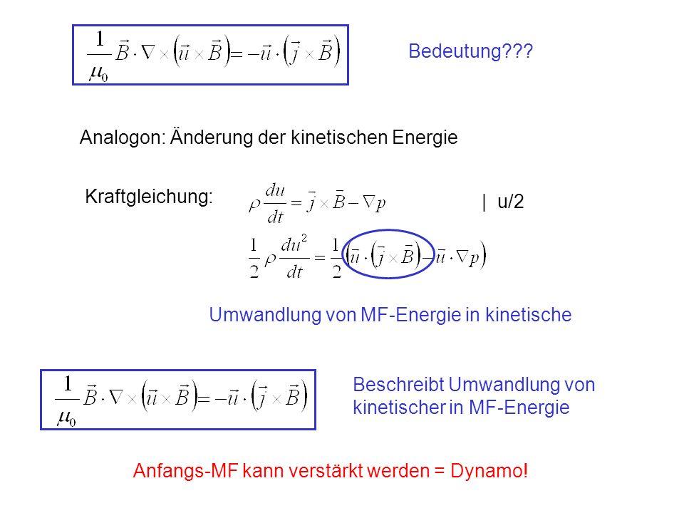 Analogon: Änderung der kinetischen Energie