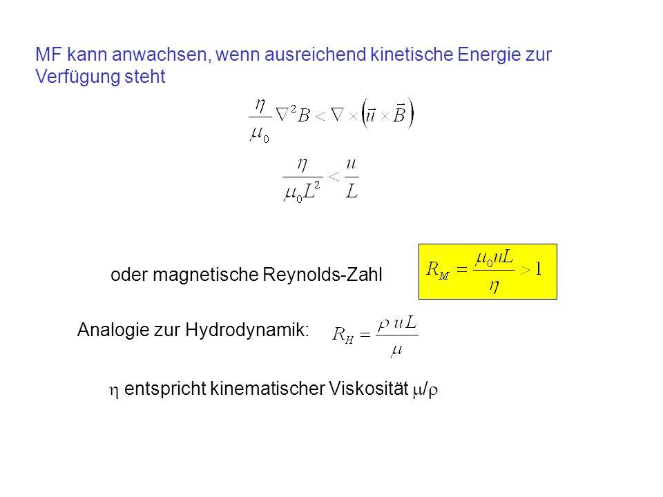 oder magnetische Reynolds-Zahl