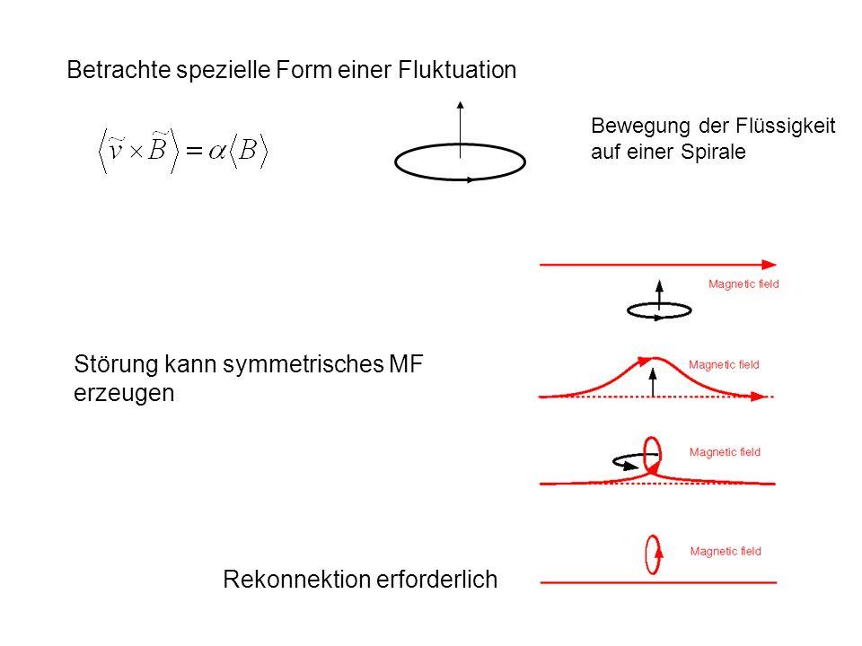 Betrachte spezielle Form einer Fluktuation