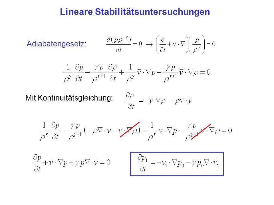 Lineare Stabilitätsuntersuchungen