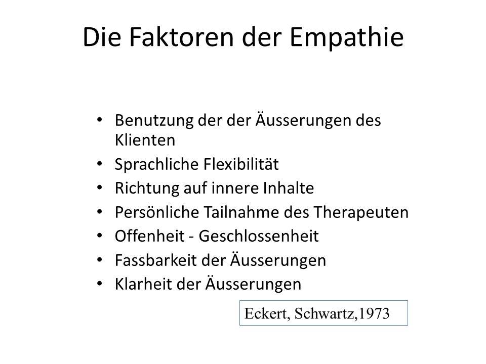 Die Faktoren der Empathie