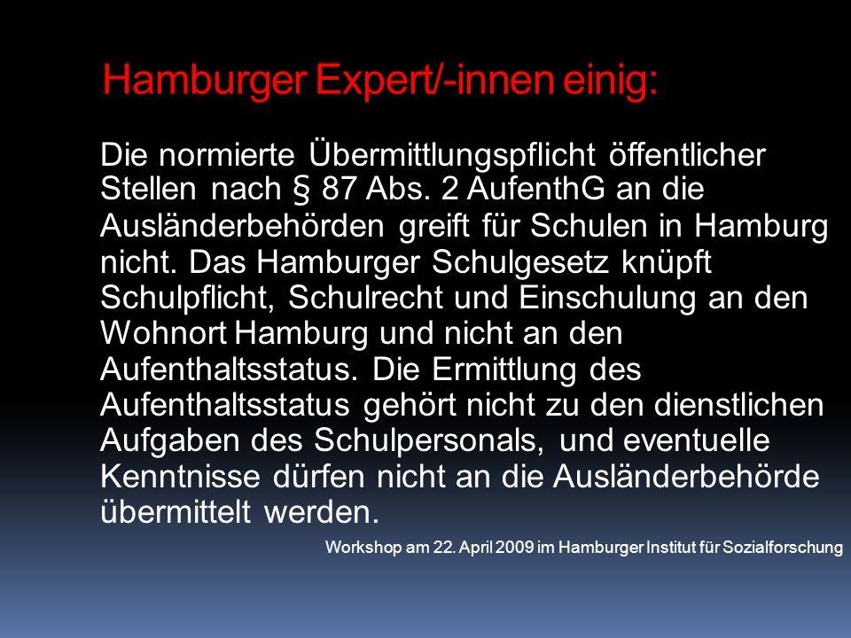 Hamburger Expert/-innen einig: