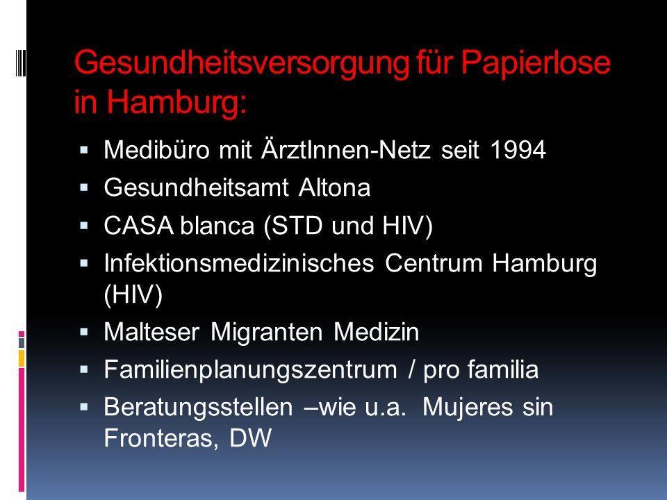 Gesundheitsversorgung für Papierlose in Hamburg: