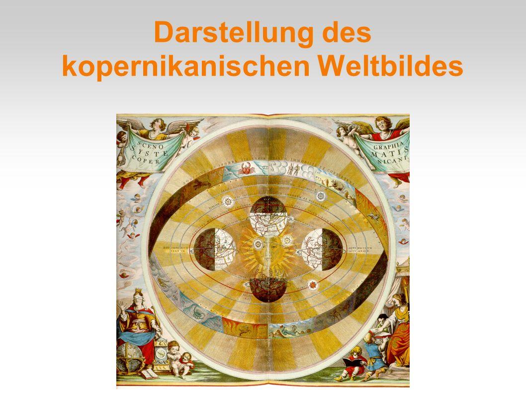 Darstellung des kopernikanischen Weltbildes