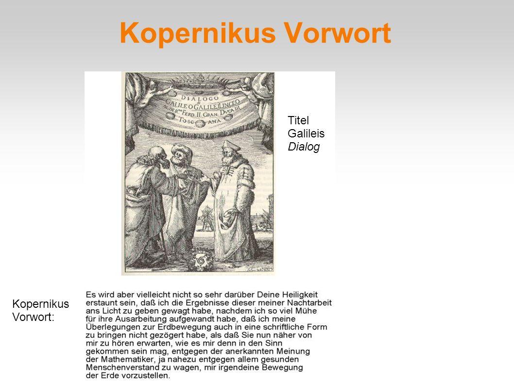 Kopernikus Vorwort Titel Galileis Dialog Kopernikus Vorwort: