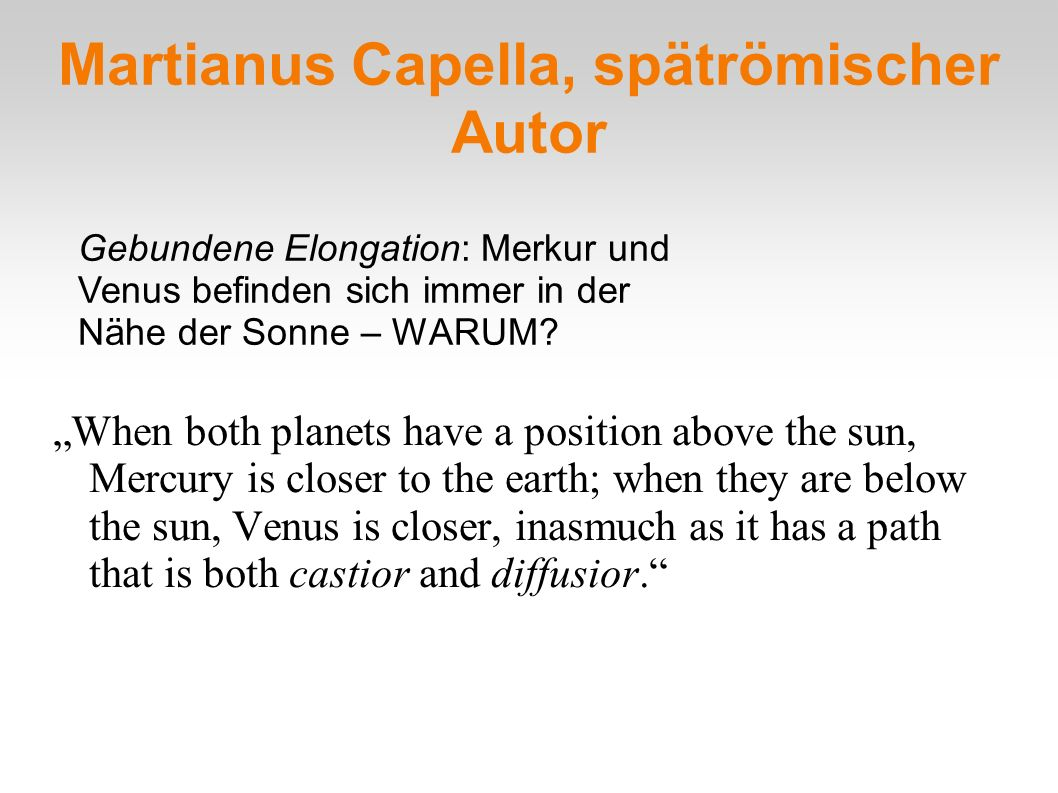 Martianus Capella, spätrömischer Autor