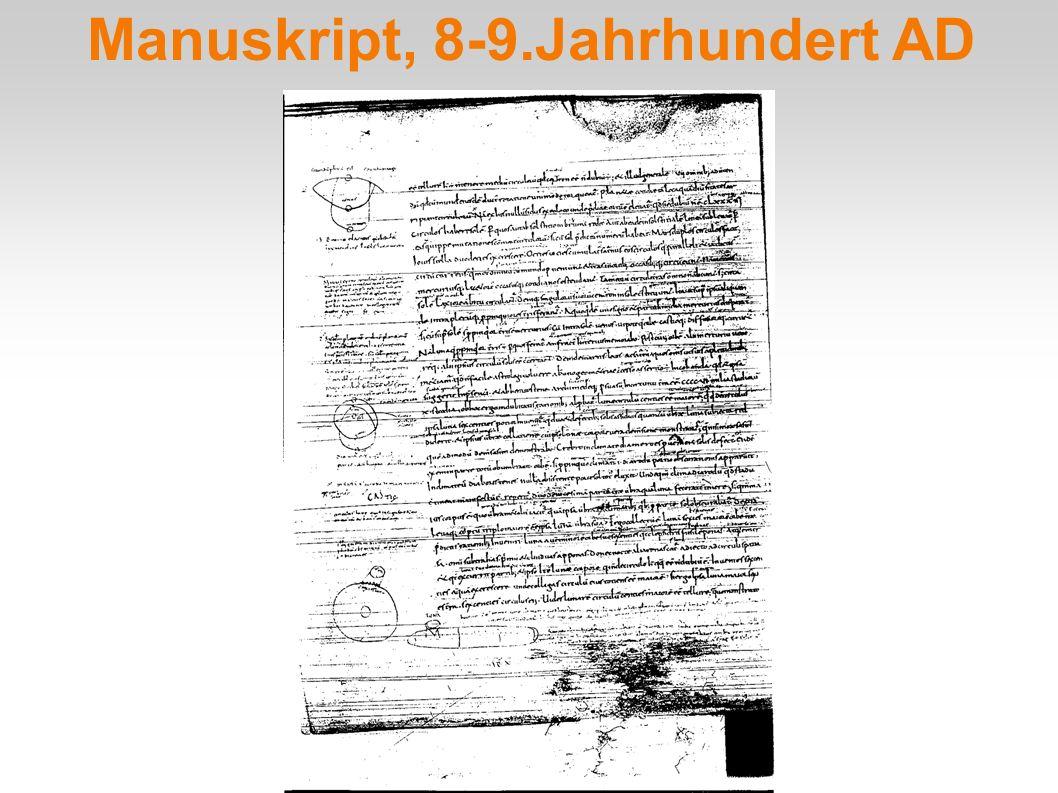 Manuskript, 8-9.Jahrhundert AD