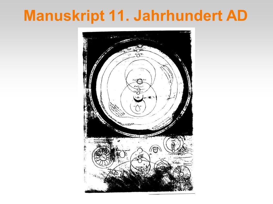 Manuskript 11. Jahrhundert AD