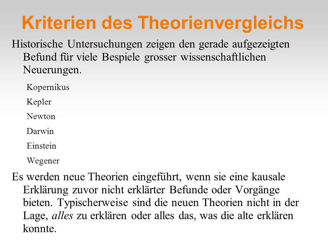 Kriterien des Theorienvergleichs