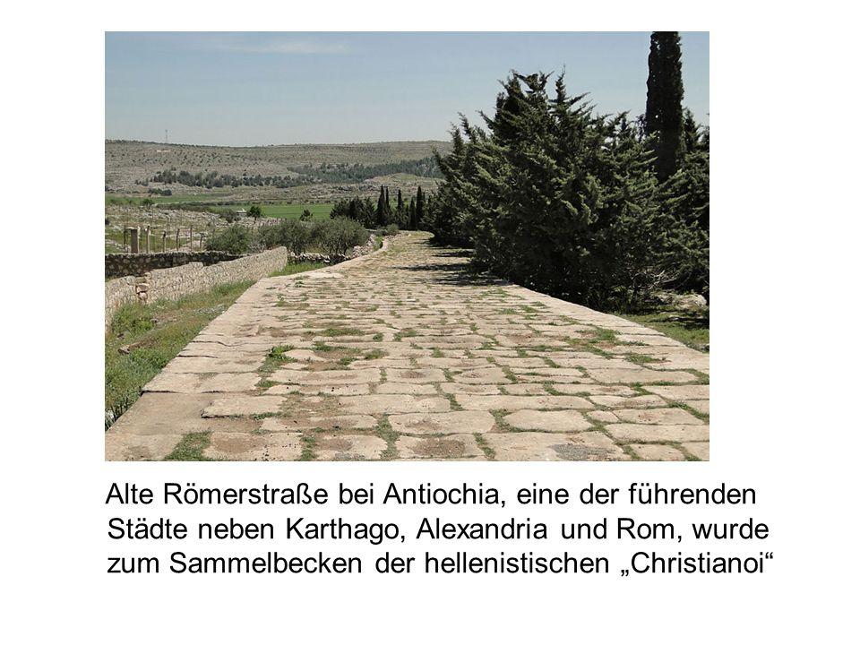 Alte Römerstraße bei Antiochia, eine der führenden
