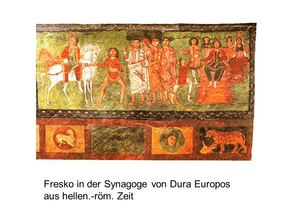 Fresko in der Synagoge von Dura Europos aus hellen.-röm. Zeit