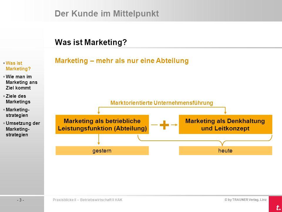 Marketing als betriebliche Leistungsfunktion (Abteilung)