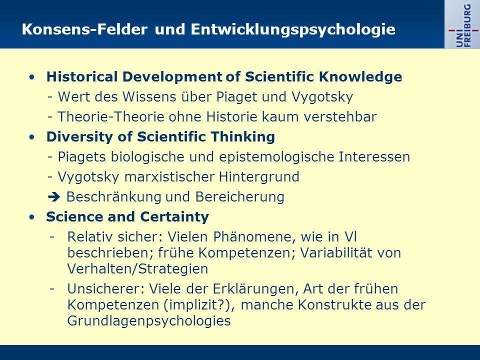 Konsens-Felder und Entwicklungspsychologie
